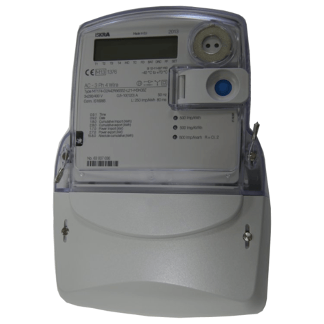 Iskra MT174 Three Phase MID Electricity Meter with Import/Export Series
