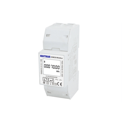 SDM230-MT-MID - Single Phase, MID, 100A, Direct Connected, Digital Multifunction Meter, Pulse & Modbus Outputs