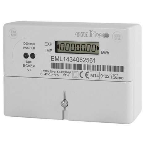EMLITE ECA2 MID SINGLE PHASE 20-100A DIRECT CONNECTED METER