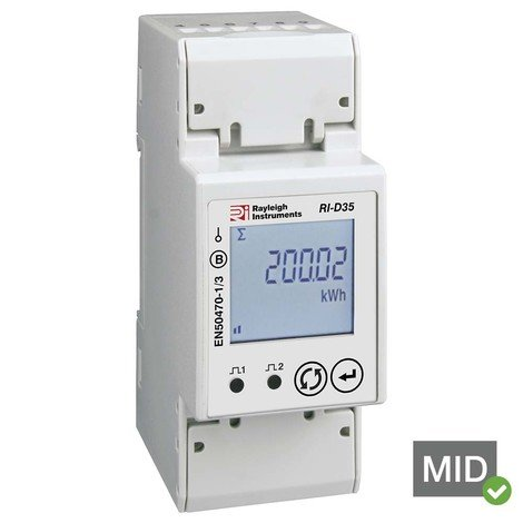 RI-D35-100-C 1phase MID kWh Energy Meter with Modbus RS485 Output