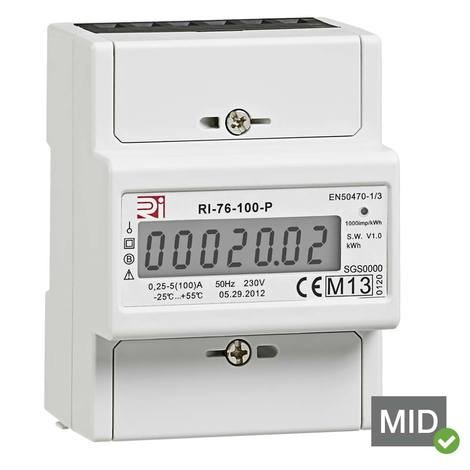 RI-76-100-P - MID kWh Energy Meter with Pulsed Output