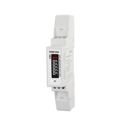 SDM120A-MID - Single Phase, MID, Analogue, kWh, Dinrail Meter (45A Direct Connected - Pulsed Output)