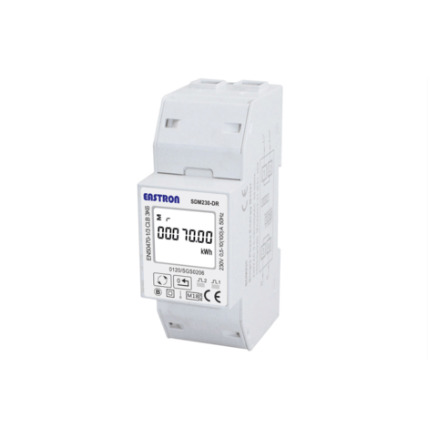 SDM230-PULSE-MID - Single Phase, MID 100A, Direct Connected, Single Phase, Digital kWh Power Meter