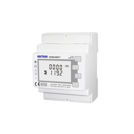 SDM630MCT-MV Single/Three Phase, 0.33VAC, Milivolt, CT Operated, Multifunction, Dinrail Meter