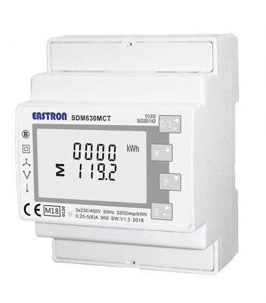 SDM630MCT-E-MID Single / Three Phase, MID, 1/5A ,CT Operated, Multifunction Dinrail Meter, Without THD & Demand and only goes to 9600 Baud rate