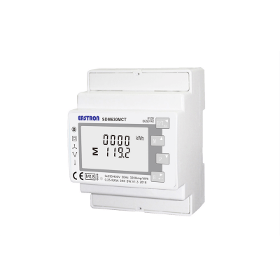 SDM630MCT-MOD-MID Single/Three Phase, MID,  1/5A, CT Operated, Multifunction, Dinrail Meter