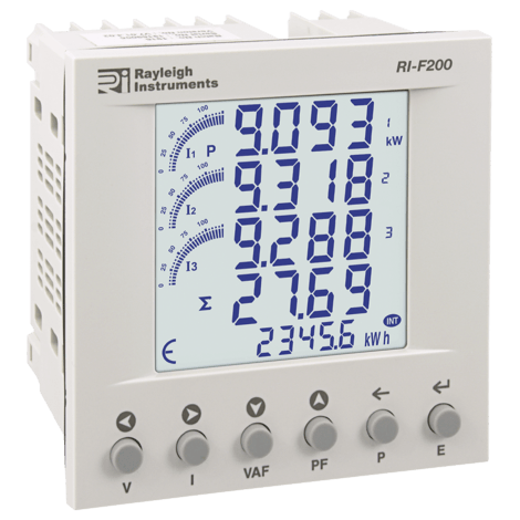 RI-F200-G-C - Multifunction Power Meter, Modbus