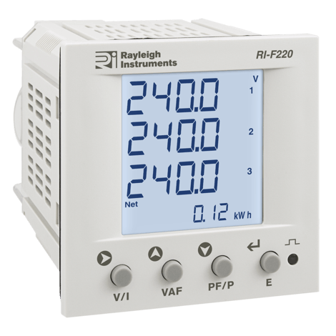 RI-F220-G-C - Multifunction Power Meter, Modbus DIN 72