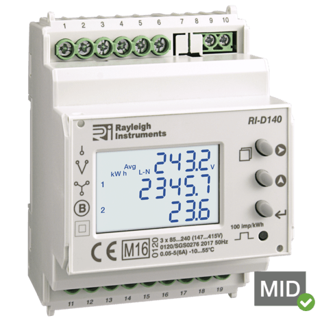 RI-D140-C - MID 3 Ph Multifunction Meter with Modbus