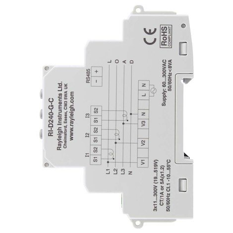 RI-D240-C - Multifunction Power Meter, Modbus