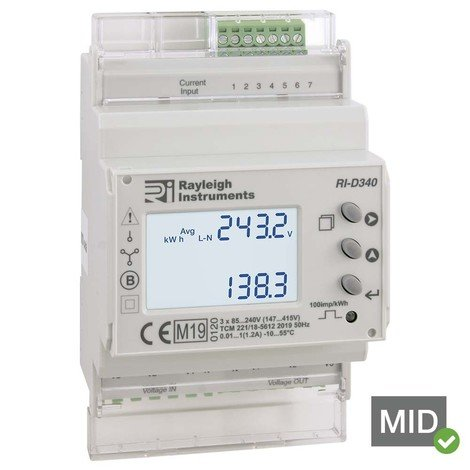 RI-D340-C - Easywire®  MID Multifunction Power Meter, Modbus