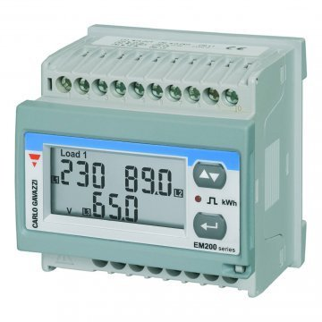 CARLO GAVAZZI EM210-72D DIN RAIL METER WITH PULSE OUTPUT